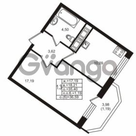 Продается квартира 1-ком 35.4 м² улица Шувалова 1, метро Девяткино