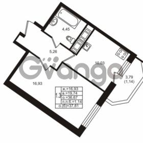 Продается квартира 1-ком 36.67 м² улица Шувалова 1, метро Девяткино