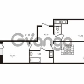 Продается квартира 2-ком 60.95 м² улица Шувалова 1, метро Девяткино