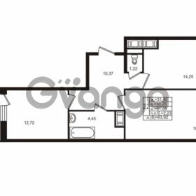 Продается квартира 2-ком 61.69 м² улица Шувалова 1, метро Девяткино