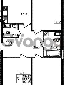 Продается квартира 3-ком 101 м² Уральская 4, метро Василеостровская