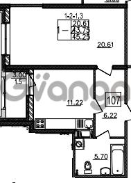 Продается квартира 1-ком 45 м² Уральская 4, метро Василеостровская