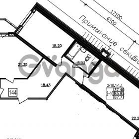 Продается квартира 2-ком 87 м² Уральская 4, метро Василеостровская