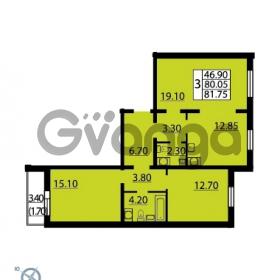 Продается квартира 3-ком 81.75 м² Витебский проспект 101к 4, метро Купчино