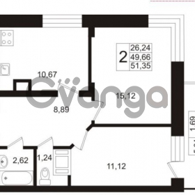 Продается квартира 2-ком 49 м² Европейский проспект 1, метро Улица Дыбенко
