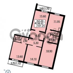 Продается квартира 4-ком 101.25 м² Витебский проспект 101к 4, метро Купчино