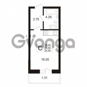 Продается квартира 1-ком 24 м² Австрийская улица 3, метро Улица Дыбенко