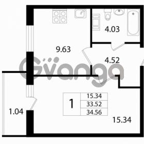 Продается квартира 1-ком 33 м² Австрийская улица 3, метро Улица Дыбенко