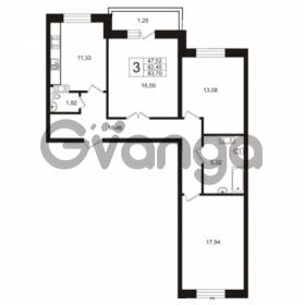 Продается квартира 3-ком 82 м² Австрийская улица 3, метро Улица Дыбенко