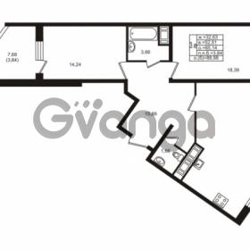 Продается квартира 2-ком 85.14 м² улица Шувалова 1, метро Девяткино