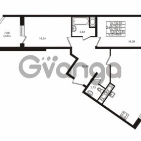 Продается квартира 2-ком 85.17 м² улица Шувалова 1, метро Девяткино