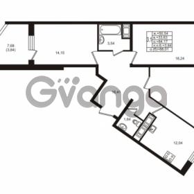Продается квартира 3-ком 84.17 м² улица Шувалова 1, метро Девяткино