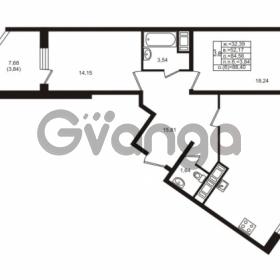 Продается квартира 2-ком 84.56 м² улица Шувалова 1, метро Девяткино