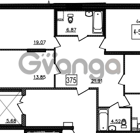 Продается квартира 4-ком 119 м² Уральская 4, метро Василеостровская