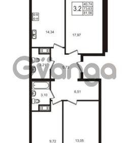 Продается квартира 3-ком 73.63 м² Школьная улица 7к 2, метро Купчино