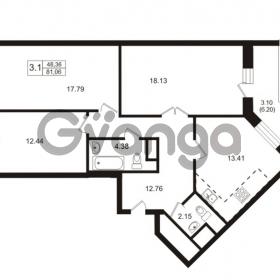 Продается квартира 3-ком 81.06 м² Школьная улица 7к 2, метро Купчино