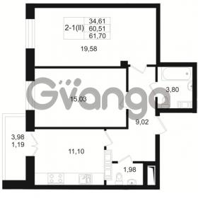 Продается квартира 2-ком 60 м² Малый пр. В.О. 64, метро Василеостровская