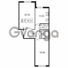 Продается квартира 2-ком 65.72 м² улица Токарева 13к 3, метро Старая деревня
