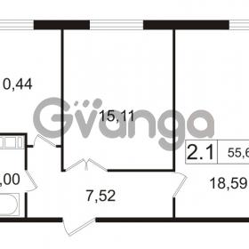 Продается квартира 2-ком 55.66 м² улица Токарева 13к 3, метро Старая деревня