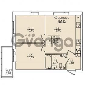 Продается квартира 2-ком 48.8 м² улица Николая Рубцова 22к 1, метро Ладожская