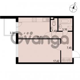 Продается квартира 1-ком 41.25 м² Саперная улица 53, метро Купчино