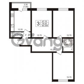 Продается квартира 3-ком 80.3 м² Школьная 6, метро Проспект Просвещения
