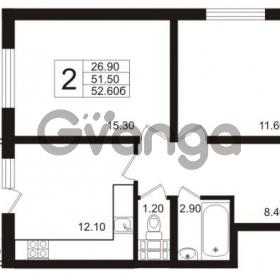 Продается квартира 2-ком 52.6 м² Школьная 6, метро Проспект Просвещения