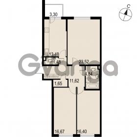 Продается квартира 3-ком 89.66 м² Саперная улица 53, метро Купчино