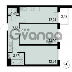 Продается квартира 2-ком 52.1 м² Саперная улица 53, метро Купчино