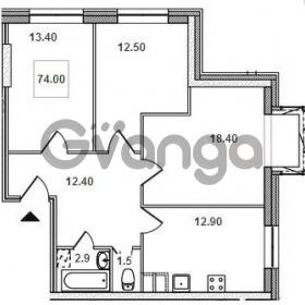 Продается квартира 3-ком 74 м² Рыбацкий проспект 18к А, метро Рыбацкое