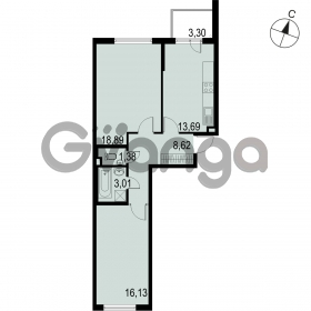 Продается квартира 2-ком 61.75 м² Саперная улица 53, метро Купчино