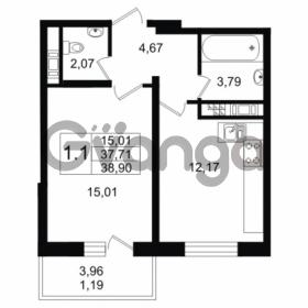 Продается квартира 1-ком 37.71 м² улица Мира 37, метро Петроградская