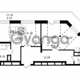 Продается квартира 1-ком 63.88 м² улица Мира 37, метро Петроградская