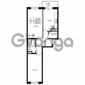 Продается квартира 2-ком 66.97 м² улица Мира 37, метро Петроградская