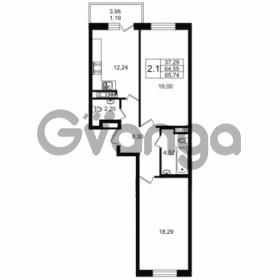Продается квартира 2-ком 64.55 м² улица Мира 37, метро Петроградская