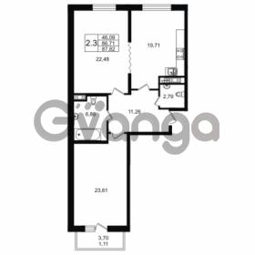 Продается квартира 2-ком 86.71 м² улица Мира 37, метро Петроградская