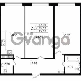Продается квартира 2-ком 89.13 м² улица Мира 37, метро Петроградская