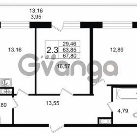 Продается квартира 2-ком 63.85 м² улица Мира 37, метро Петроградская