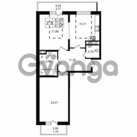 Продается квартира 2-ком 77.32 м² улица Мира 37, метро Петроградская