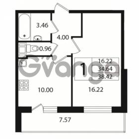 Продается квартира 1-ком 34 м² Европейский проспект 10, метро Улица Дыбенко