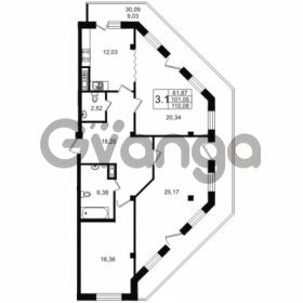 Продается квартира 3-ком 101.05 м² улица Мира 37, метро Петроградская