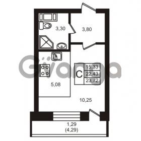 Продается квартира 1-ком 22 м² улица Кирова 11, метро Улица Дыбенко