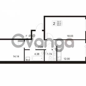 Продается квартира 2-ком 58 м² Европейский проспект 11, метро Улица Дыбенко