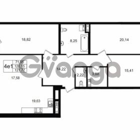 Продается квартира 3-ком 120.15 м² улица Мира 37, метро Петроградская
