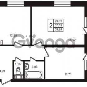 Продается квартира 2-ком 57 м² улица Кирова 11, метро Улица Дыбенко