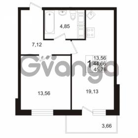 Продается квартира 1-ком 44 м² Венская улица 4к 3, метро Улица Дыбенко