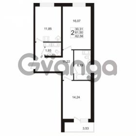Продается квартира 2-ком 62 м² Венская улица 4к 3, метро Улица Дыбенко