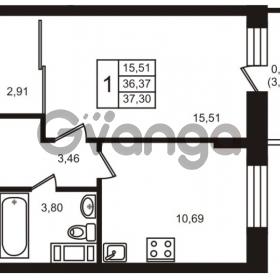 Продается квартира 1-ком 36 м² улица Кирова 11, метро Улица Дыбенко
