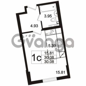 Продается квартира 1-ком 30.08 м² Берёзовая улица 1, метро Проспект Просвещения