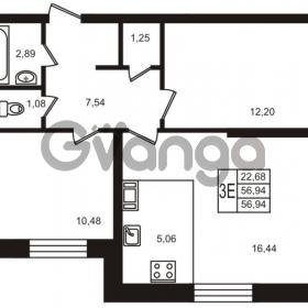 Продается квартира 2-ком 56 м² улица Кирова 11, метро Улица Дыбенко